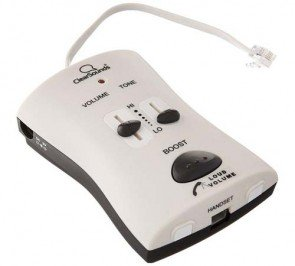 ClearSounds CSWIL95 Portable Phone Amplifier White FBA