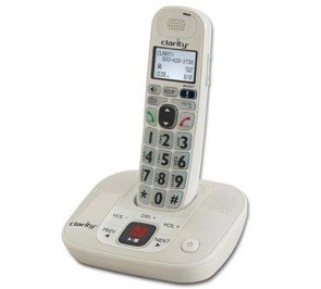 D712 DECT 6.0 Amplified/Low Vision Cordless Phone with Answering Machine