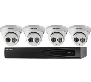 Hikvision I7604N1TP 4-Channel 5MP NVR and 4 4MP Outdoor Turret Cameras Kit