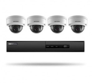 Hikvision I7604N1TA 4-Channel 5MP NVR with 1TB HDD and 2MP Outdoor Cameras Kit