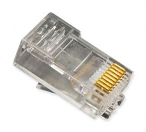 ICMP8P8SRD - ICC Cat5e / Cat 6 RJ45 Connectors, Round Solid Cable, 100 Pack