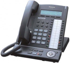 Panasonic KX-T7630-B 24 Button 3-Line LCD Speakerphone Black