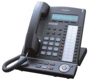 Panasonic KX-T7633-B 3-Line Backlit LCD Speakerphone KX-T7633B Black