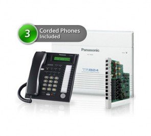 Panasonic KX-TA824PK Three Phone Bundle
