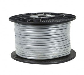 Bulk Telephone Line Cord 100953 6 Conductor 28AWG Stranded Phone Cable Silver Color