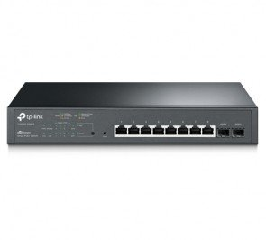 TP-LINK T1500G-10MPS JetStream 8-Port Gigabit PoE+ Smart Switch with 2 SFP Slots, sufficient power supply of 116W, 802.3af/at, 30W per port, VLAN, QoS