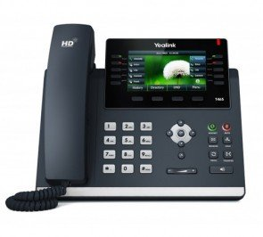 Yealink SIP-T46S Ultra-Elegant Gigabit IP Phone, 10 Line Keys Can Be Programmed with Up to 27 Features
